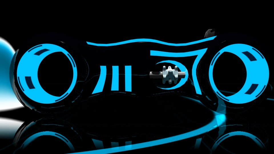 tron light cycle 3d model