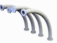 Bend Pipe 90 degree big radius