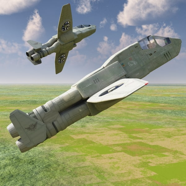 3d model av-patrol futuristic aeroplane