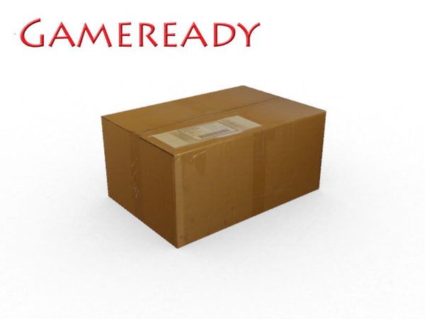 3d model gameready cardboard box