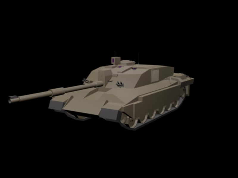 challenger 2 main 3d model
