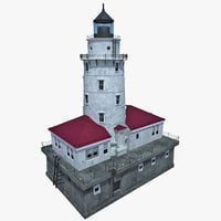 chicago harbor lighthouse 3d max