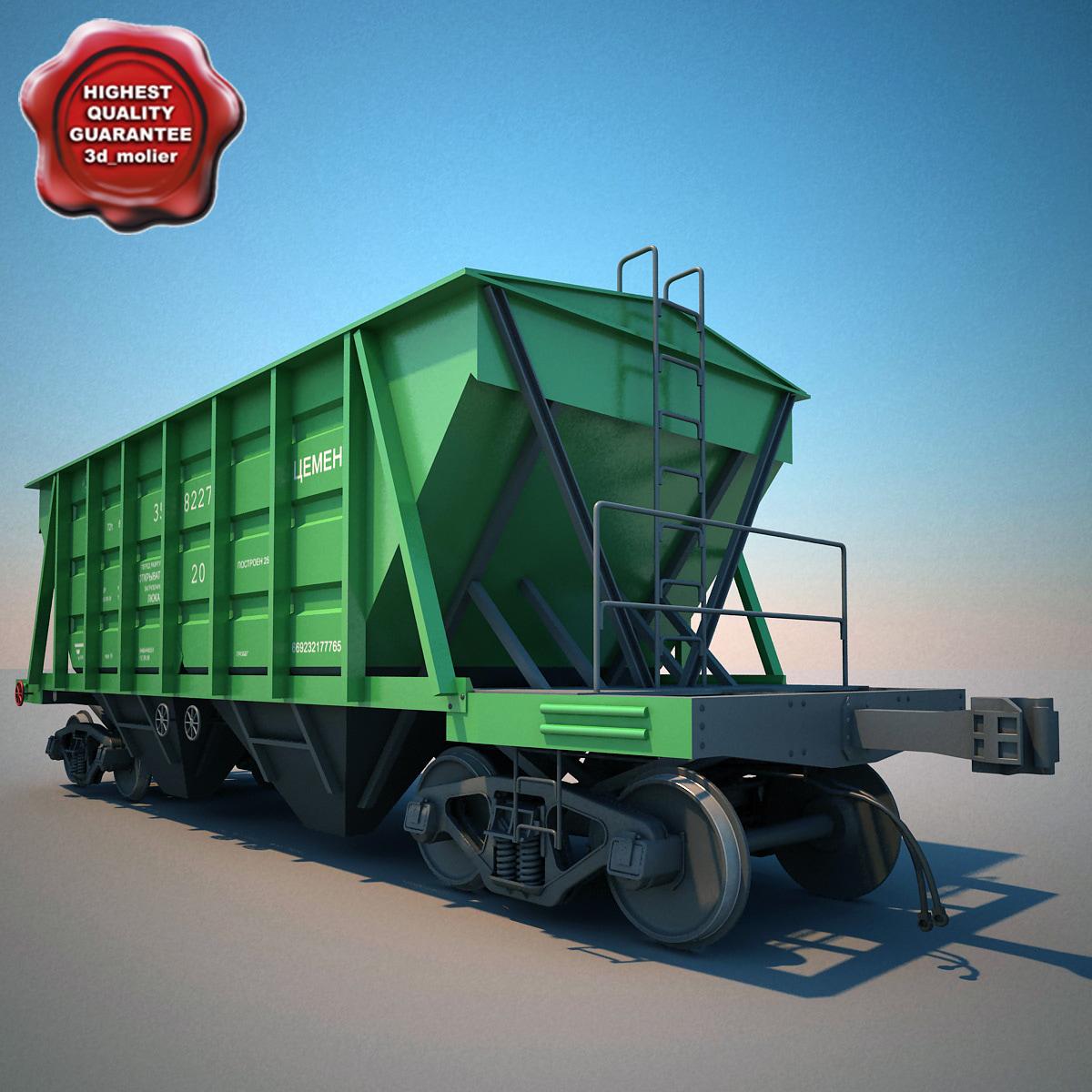 3dsmax covered hopper wagon 11-715