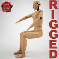 Crash Test Dummy Hibrid 3 Rigged