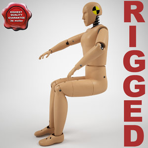 3ds max crash test dummy hibrid