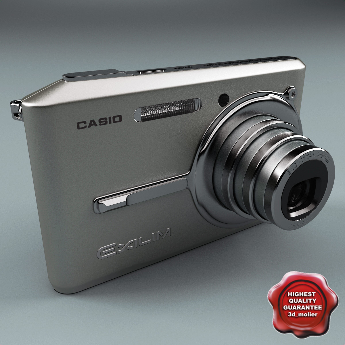 digital camera casio s600 3d model