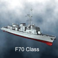 frigate f70 class 3d model