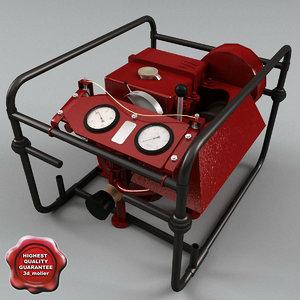 3d pump modelled model