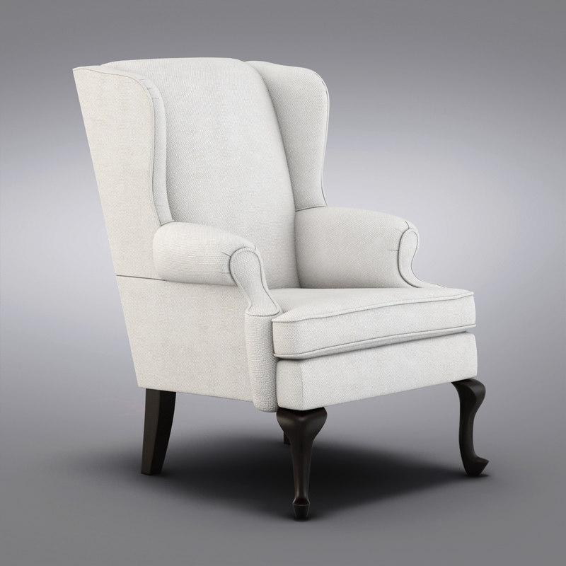pottery barn gramercy 3d obj. Black Bedroom Furniture Sets. Home Design Ideas