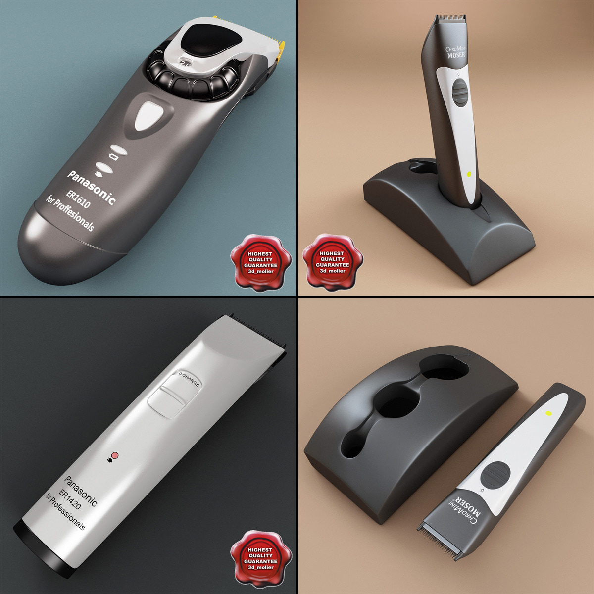 hair trimmers c4d