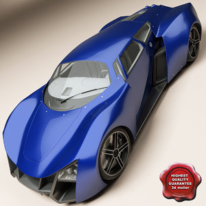 marussia b2 super car 3d c4d