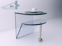 modern design glass table 3d max