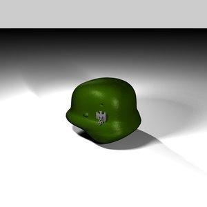 3d heer-helmet german nazi model