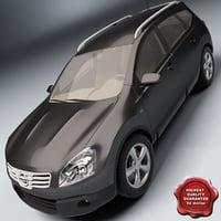 nissan qashqai 2 3d model
