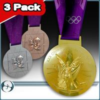 2012 olympics medals 3 3d model