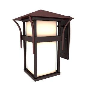 outdoor wall lantern 05 3d model