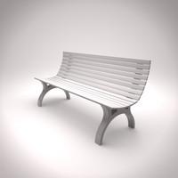 c4d parkbench bench park