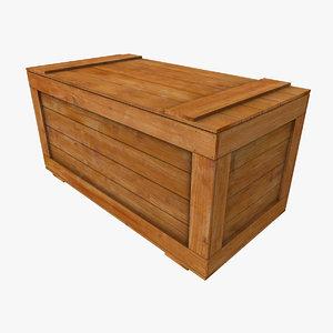 regular wooden crate 3d model