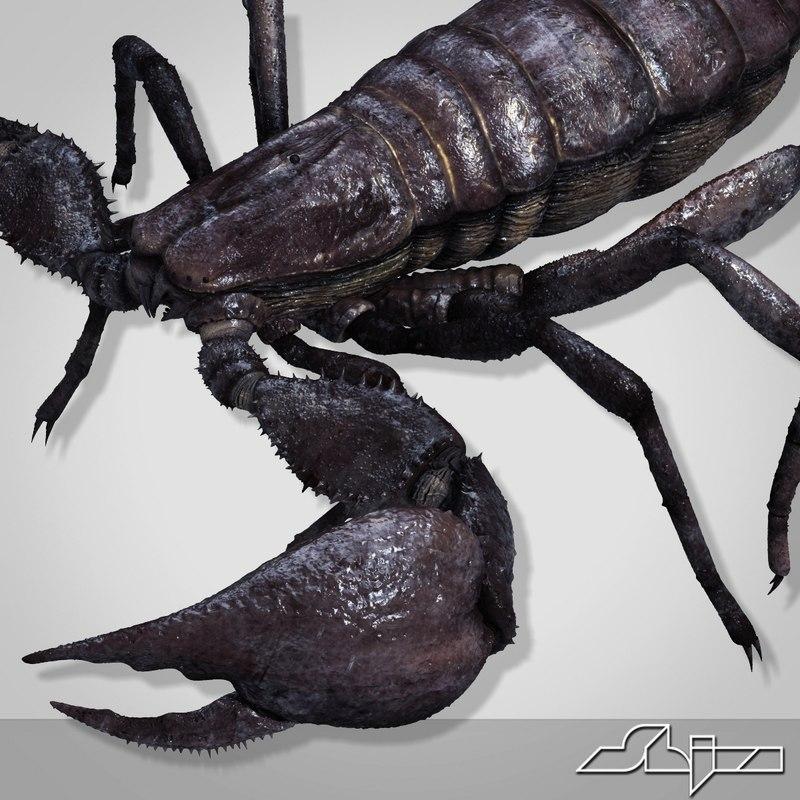 3d scorpion pandinus imperator