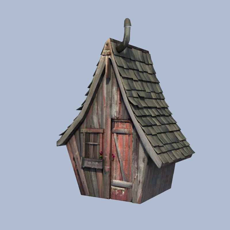 3d old worn shed model