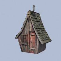 3d old worn shed model