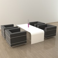 3d lounge corner model