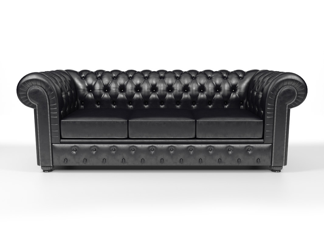 3d max chesterfield sofa
