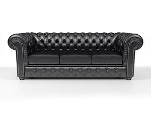 3d max chesterfield sofa