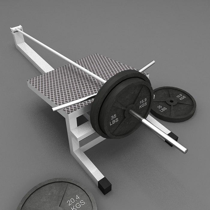 3ds max t-bar-machine weights