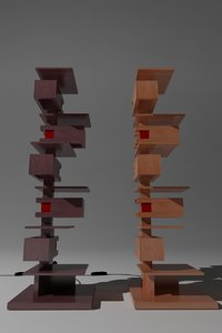 taliesin table lamps yamagiwa 3d model