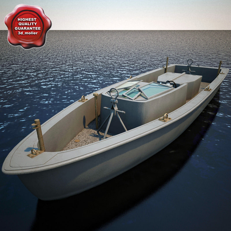 3d model navy rescue boat
