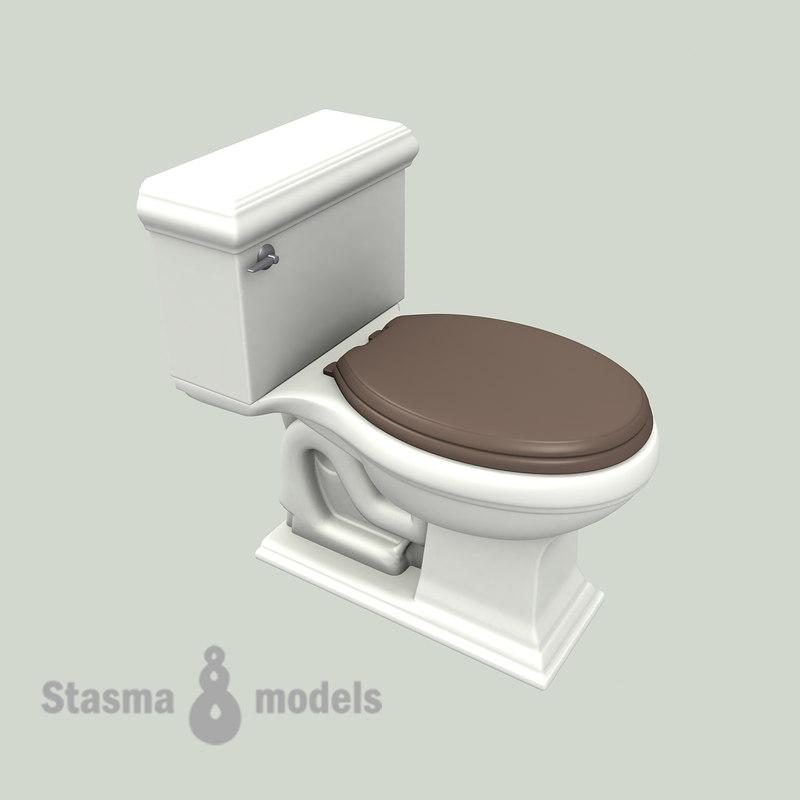 Kohler wc 3d 3ds - Wc model ...