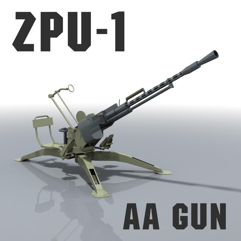 3d Gun Image 3d Home Architect: 3d Model Zpu-1 Gun Afghanistan Libya