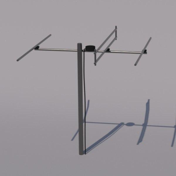3d tv antenna model