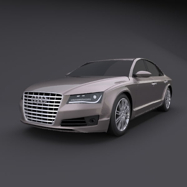 3d Realistic Audi A8 Model