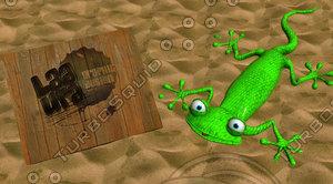 3d lizard