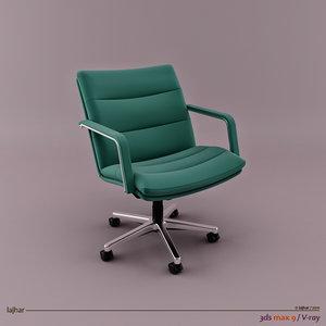 geoffrey harcourt channel chair 3d model