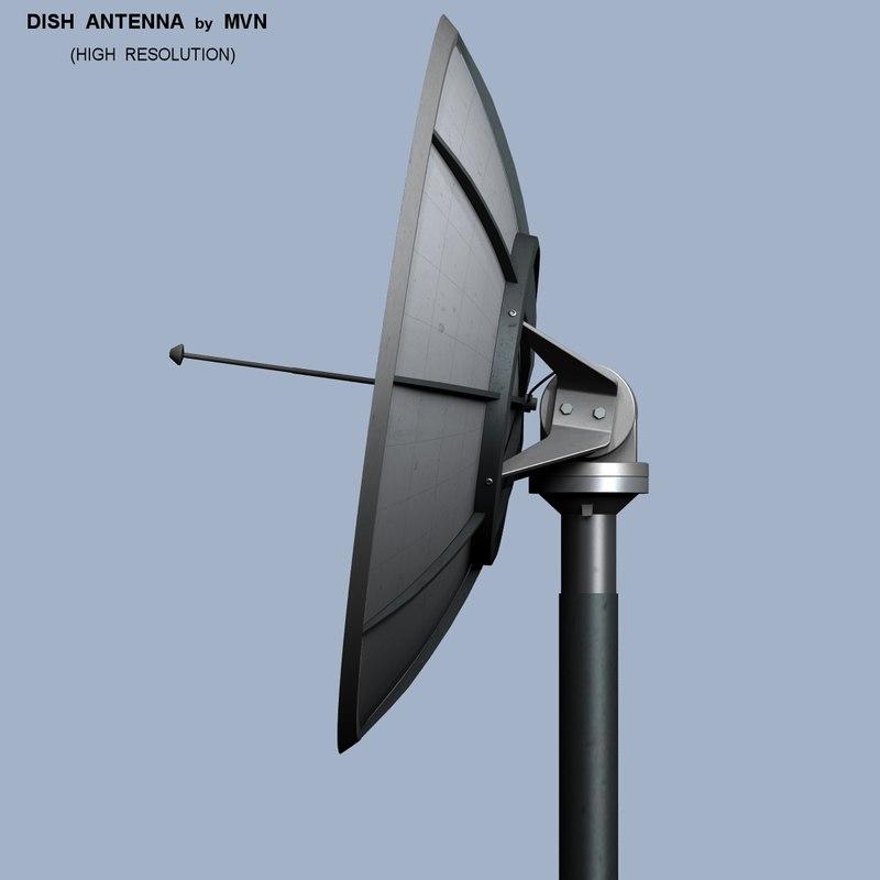 3d remote dish antenna