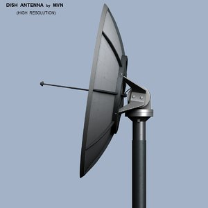 3d remote dish antenna
