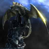 3dsmax sea dragon fantasy