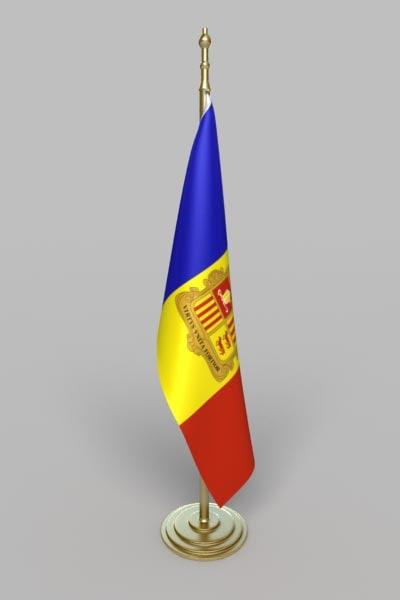 3d flag andorra model