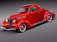 3d model 1936 36 coupe antique