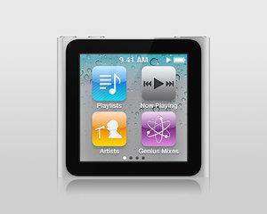 3d model apple ipod nano 6g