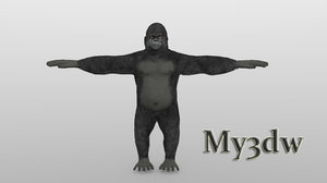 3d model gorilla monkey ape