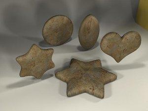 3d gingerbread cookies model
