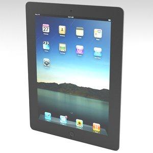 3ds max apple ipad 2 tablet