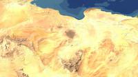 3d model of libya maps