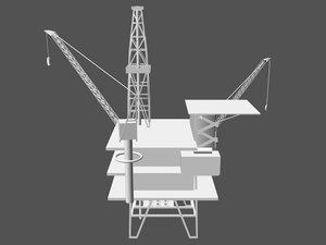oilrig oil rig 3d max