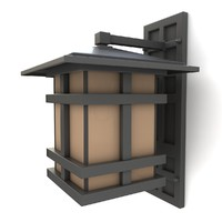 3d model outdoor wall lantern 09