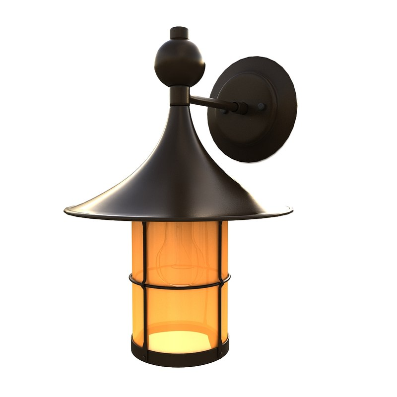 3d outdoor wall lantern 10